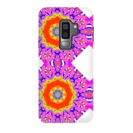 Galaxy S9 plus  Groovy Vibe by  (hot pink,vibes,mandala,spirit,groovy,fun,bright colors,colorful)