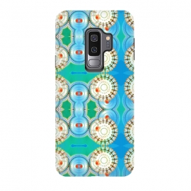 Galaxy S9 plus  Electric Boogaloo by  (geo,geometric,mandala,blue and green,bright colors,fun,whimsical)