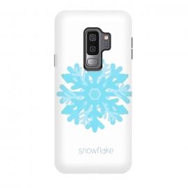 Galaxy S9 plus  Snowflake -light blue by  (snowflake,snow, geo,geometric,blue,winter,holidays,light blue,happy)