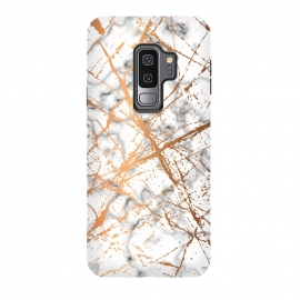 Galaxy S9+  Marble Texture and Gold Splatter 039 by Jelena Obradovic