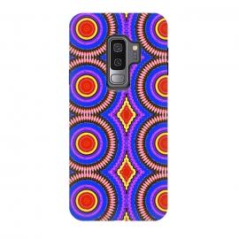 Galaxy S9 plus  Trip Mandala by  (mandala,bright colors,pattern,red,purple,fun)