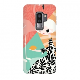 Galaxy S9 plus  Girl and flamingo 003 by