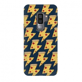 Galaxy S9+  Pizza Power Pattern by Coffee Man (pizza, power, fast food,humor,fun,funny,pepperoni, cheese, pizza lover,geek, nerd)