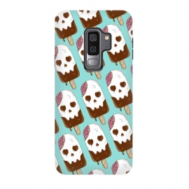 Galaxy S9+  Skull Ice Cream Pattern by Coffee Man (skull,dead,brain,summer,vacation,spring break,melted,food,ice cream,fun,funny)