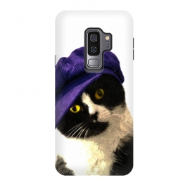 Galaxy S9+  Cute Cat Blue Hat by Alemi (cat,pet,animal,animals,humor,cute,funny,kitty,kitten,pussy,pup,peekaboo,portrait,illustration,photography,blue,children,baby,kids)