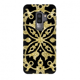 Galaxy S9 plus  Black and Gold Fashion Case by