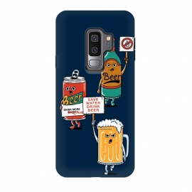 Galaxy S9+  Save Water Drink Beer by Coffee Man (beer, save water, water, fun, funny, humor,cute, adorable, cerveza,drink, summer, boy, man)