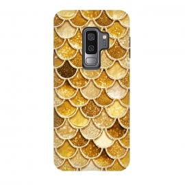 Galaxy S9+  Faux Gold Glitter Mermaid Scales by Utart