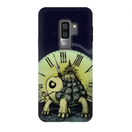 Galaxy S9 plus  Time To Leave by  (turtle,turtoise,time,clock,watch,fantasy,imaginary,pipe,smoking,moon,city,animal,animals,turtles,cool,unique,sketch,pencil,castle,home,smoke,silluete,unusual)