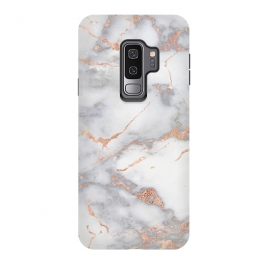 Galaxy S9+  Rose Gold and Marble by Utart (Glitter, Stylish, Ombre, Girly, Marble, Marbled, Nature, Texture,  Geode ,Terrazzo,  Metallic, Scandi, Bohemian, Boho, Scandinavian, stone, crystal, quartz, gemstone, gem, granite,  shimmer, shimmery, shiny ,metallic,  trendy, simply, simple, glitter, chrystal ,ink, malachite, agate,rose gold,rosego)