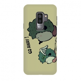 Galaxy S9 plus  GO AWAY LITTLE CUPID! by  (hedgehogs,angel,cupid,love,anti-valentine,cute,sweet,animals,hedgehog,bow,arrow,heaven,lovers,amor,valentines-day,angry,funny,humor,comic,cartoon,fun)