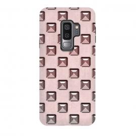Galaxy S9 plus  Soft Pink Shiny Gemstones by  (gemstone, shiny, embellishment, ornate, rivet, pink, pastel, soft, shimmering, elegant, application, feminine, fashionable, gradient, luxury, girly, gift, precious, glamorous,facet,adornment)