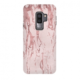 Galaxy S9 plus  Shiny Rose Gold Marble by  (marble, rose gold, rose, gold, pink, pastel, fragments, veins, shimmering, shiny, luxury, elegant, precious, metal, glamorous, glamour, exquisite, exclusive, feminine)