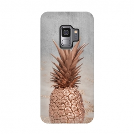 Galaxy S9  Rose Gold Pineapple and Marble by Utart (fruit, food, pineapple, tropical, sweet, nature, natural, summer, exotic, caribbean,glitter, rose, gold, texture, sparkle, shiny, pink, luxury, shine, glow, metallic, valentine, glamour, glowing, effect, metal, blur, brilliant, twinkle, elegant, fashion, gleam, gloss, brilliance, rose gold, shimmer)