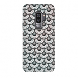 Galaxy S9 plus  Shiny Teal And Pink Metal Scales by  (scale, shimmering, shiny, armour, mermaid, skin, mermaid skin, metal, teal, pastel, pink, elegant, luxury, extravagant, precious, glamorous, fashionable, green, turquoise)