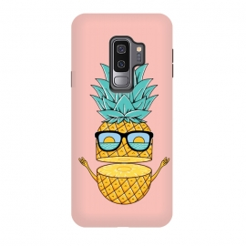 Galaxy S9+  Pineapple Sunglasses Pink by Coffee Man (pineapple,sunglasses,summer,beach,ocean,nature,sea,landscape,sun,sunset,fun,funny,humor,adorable,explore,adventure,spring break)