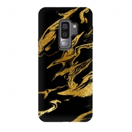 Galaxy S9+  Black and Gold Luxury Marble by Utart