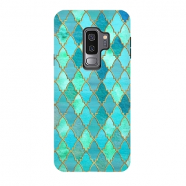 Galaxy S9+  Teal Moroccan Shapes Pattern  by Utart (geometrical,Moroccan,Morocco,blue,teal,gold,turquoise,shape,arabesque,golden,glitter, gold, texture, sparkle, shiny, luxury, shine, glow, metallic, valentine, glamour, love, wedding, glowing, effect, metal, blur, brilliant, twinkle, valentines day, elegant, fashion, gleam, gloss, brilliance, romanti)