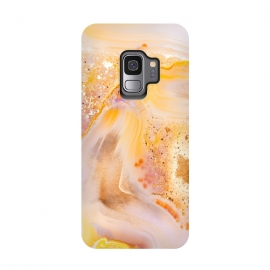 Galaxy S9  Rose Gold Agate by Utart (Glitter, Stylish, Ombre, Girly, Marble, Marbled, Nature, Texture,  Geode ,Terrazzo,  Metallic, Scandi, Bohemian, Boho, Scandinavian, stone, crystal, quartz, gemstone, gem, granite,  shimmer, shimmery, shiny ,metallic,  trendy, girly, simply, simple, glitter, chrystal ,rose gold,rosegold,yellow,gold,)