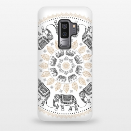 Galaxy S9 plus  Elephant mandala white by  (mandala,elephant,pattern)