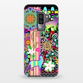 Galaxy S9 plus  Mandalas, Cats & Flowers Fantasy Pattern  by