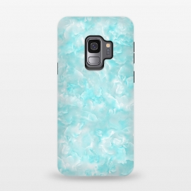 Galaxy S9  Aqua White Mother of pearl by Utart (Glitter, Stylish, Ombre, Girly, Marble, Marbled, Nature, Texture,  Geode ,Terrazzo,  Metallic, Scandi, Bohemian, Boho, Scandinavian, stone, crystal, quartz, gemstone, gem, granite,  shimmer, shimmery, shiny ,metallic,  trendy, simply, simple, glitter, chrystal ,ink, malachite, agate, indigo,green,bl)