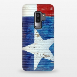 Galaxy S9+  Texas Flag On Distressed Metal by Andrea Haase