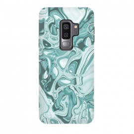 Galaxy S9 plus  Faux Marble Teal Green by
