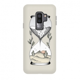 Galaxy S9 plus  Time is running out by  (Time, sand, hourglass, awareness, earth, planet, life, desert, ocean, water, iceberg, melting, global warming, leaves, cactus, sun, heat, illustration, drawing)
