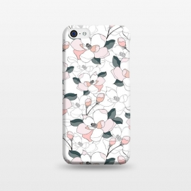 iPhone 5C  Magnolias by Dunia Nalu (floral, garden, spring,flora,nature,white,minimalist,pastels)