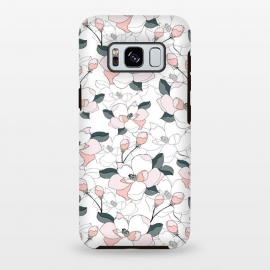 Galaxy S8+  Magnolias by Dunia Nalu (floral, garden, spring,flora,nature,white,minimalist,pastels)
