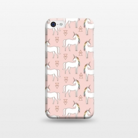 iPhone 5C  Geo Unicorn by Dunia Nalu (geo, geometric,unicorn, sweet, cute,girly,rainbow,animal,minimalist,pattern)