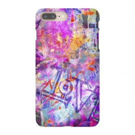 iPhone 8/7 plus  Pink Grunge Graffiti Wall by