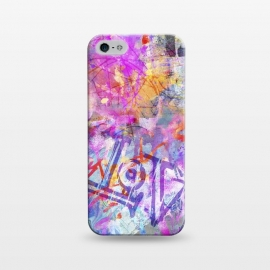 iPhone 5/5E/5s  Pink Grunge Graffiti Wall by Andrea Haase