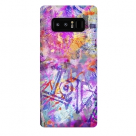 Galaxy Note 8  Pink Grunge Graffiti Wall by Andrea Haase