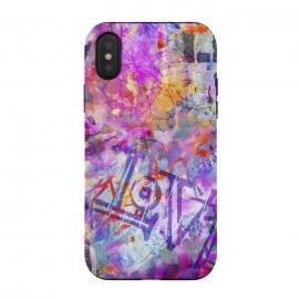 iPhone Xs / X  Pink Grunge Graffiti Wall by