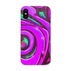 iPhone X  Pink Graffiti by Andrea Haase
