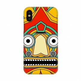 iPhone X  indian tribal mask by TMSarts