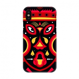 iPhone X  ceremonial tribal mask by TMSarts