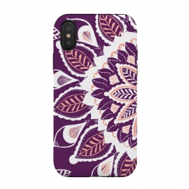 iPhone Xs / X  Live Freely  by Rose Halsey (nature,floral,flower,purple,pink,mandala,hippie,boho,pretty)