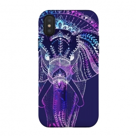 iPhone Xs / X  Elephant Dreams  by Rose Halsey (Elephant,elaphnats,animals,purple,hippie,boho,pretty)