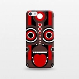 iPhone 5C  tiki tribal mask by TMSarts