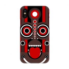 iPhone X  tiki tribal mask by TMSarts