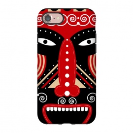 iPhone 8/7  red ritual tribal mask by TMSarts