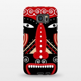 Galaxy S7 EDGE  red ritual tribal mask by TMSarts