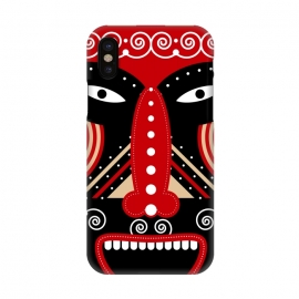 iPhone X  red ritual tribal mask by TMSarts