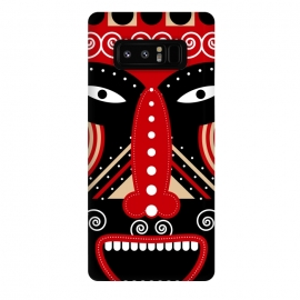 Galaxy Note 8  red ritual tribal mask by TMSarts