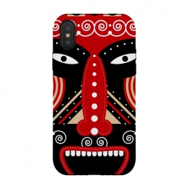 red ritual tribal mask by TMSarts