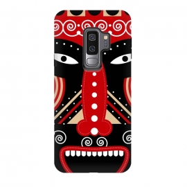 Galaxy S9+  red ritual tribal mask by TMSarts