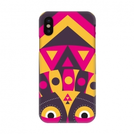 iPhone X  aboriginal tribal mask by TMSarts